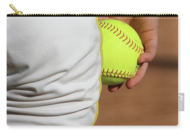 Softball Carry-all Pouch featuring the photograph Four Seam by Laddie Halupa
