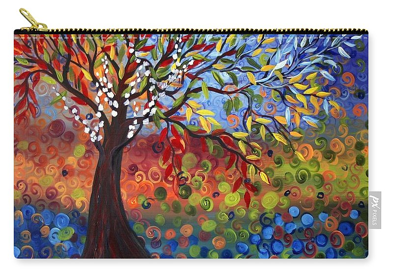 Art Carry-all Pouch featuring the painting Four Seasons by Luiza Vizoli