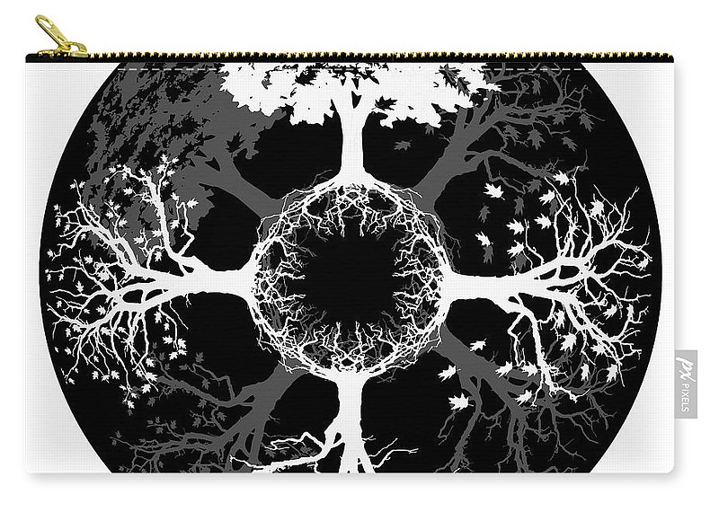 Four Seasons Carry-all Pouch featuring the digital art Four Seasons Of Tree by Doug LaRue
