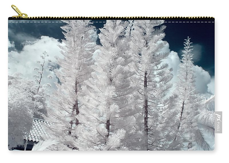 3scape Photos Carry-all Pouch featuring the photograph Four Tropical Pines Infrared by Adam Romanowicz
