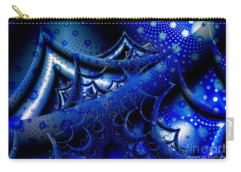 Waves Carry-all Pouch featuring the digital art Fourteen Foot Seas by Ron Bissett