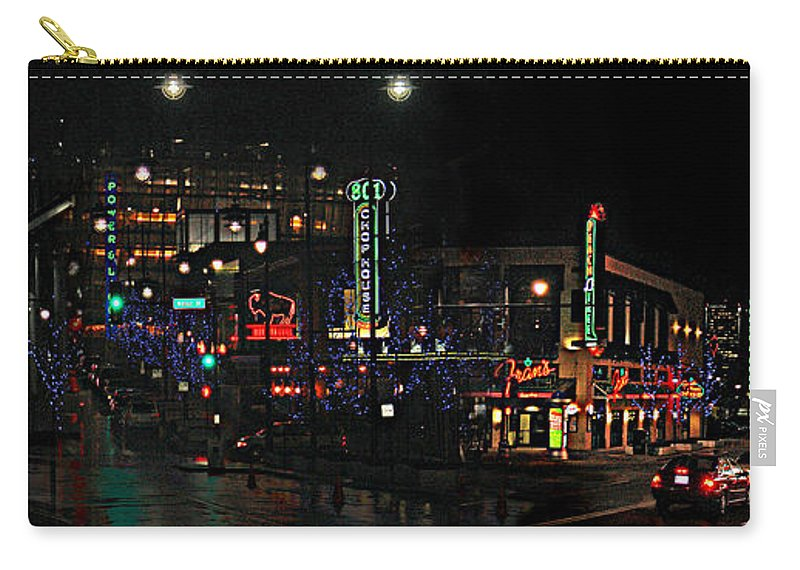 City Scape Carry-all Pouch featuring the photograph Fourteenth and Main by Steve Karol