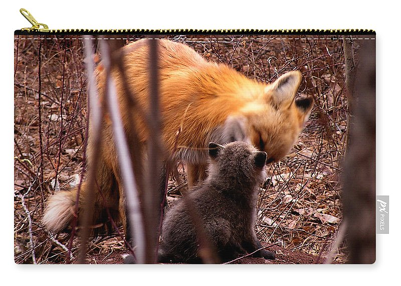 Fox Carry-all Pouch featuring the photograph Fox by Carol Milisen