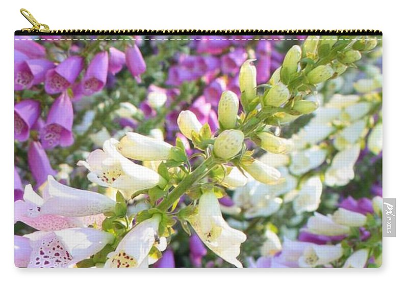Card Carry-all Pouch featuring the photograph Foxglove Card by Carol Groenen
