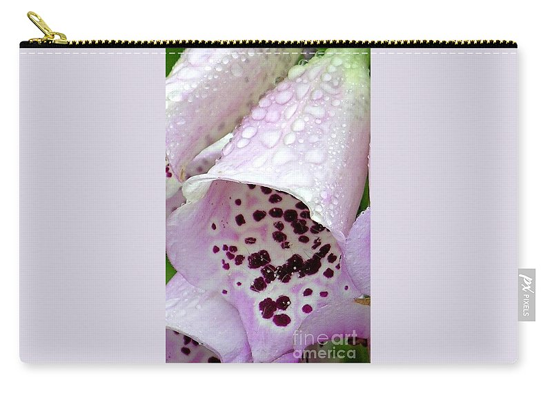 Foxglove Carry-all Pouch featuring the photograph Foxy Foxglove by Diane Greco-Lesser
