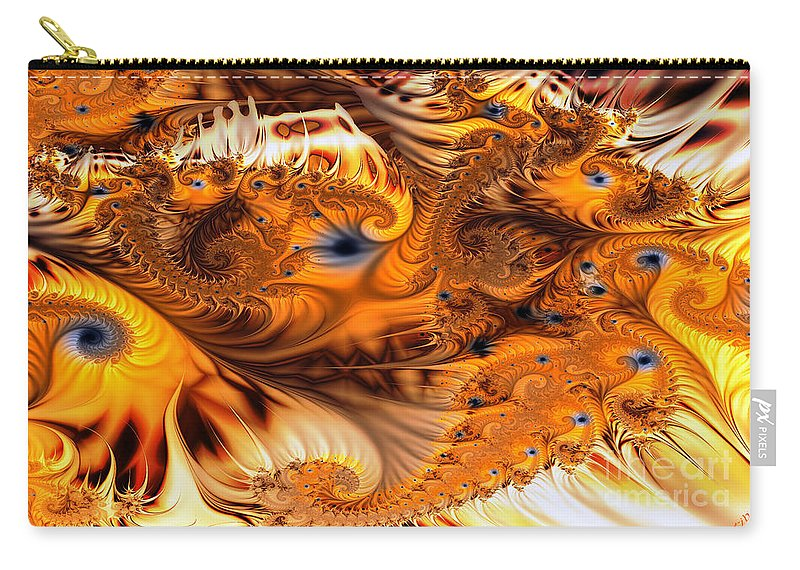 Fractal Carry-all Pouch featuring the digital art Fractal Citrus by Ron Bissett