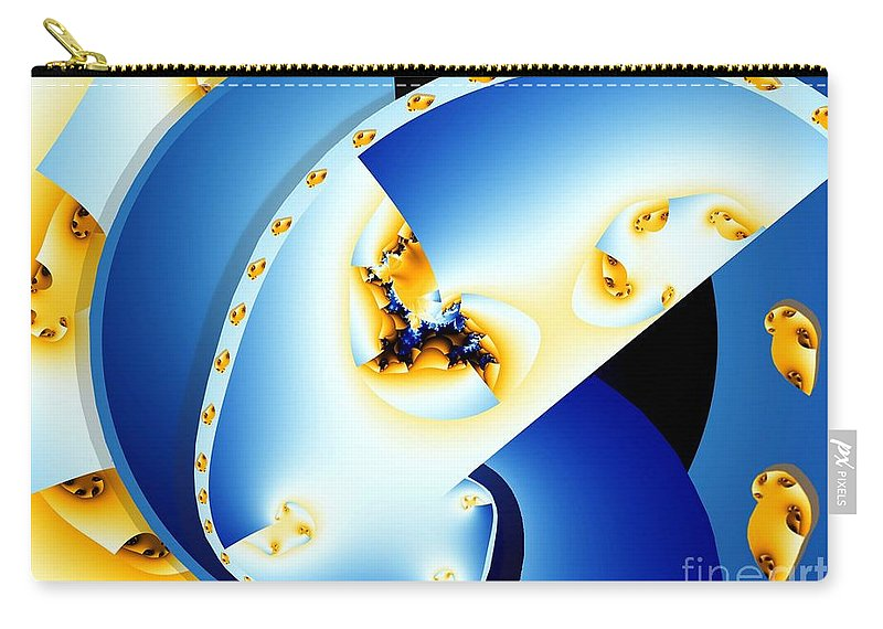 Fractal Carry-all Pouch featuring the digital art Fractal Construct by Ron Bissett
