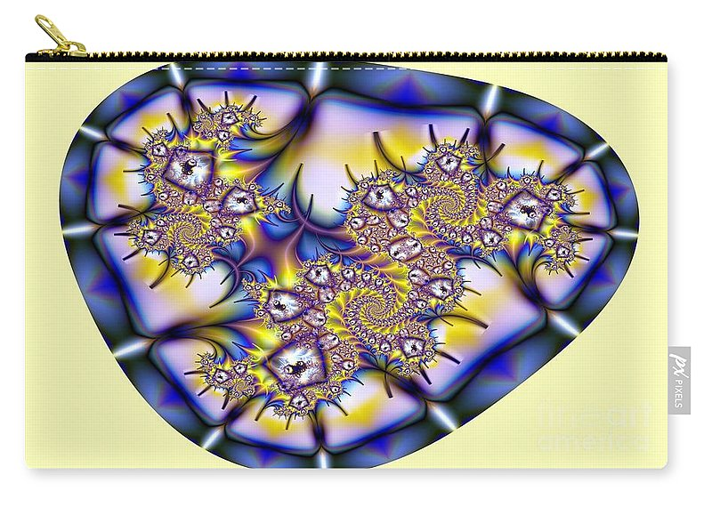 Fractal Carry-all Pouch featuring the digital art Fractal Containment by Ron Bissett