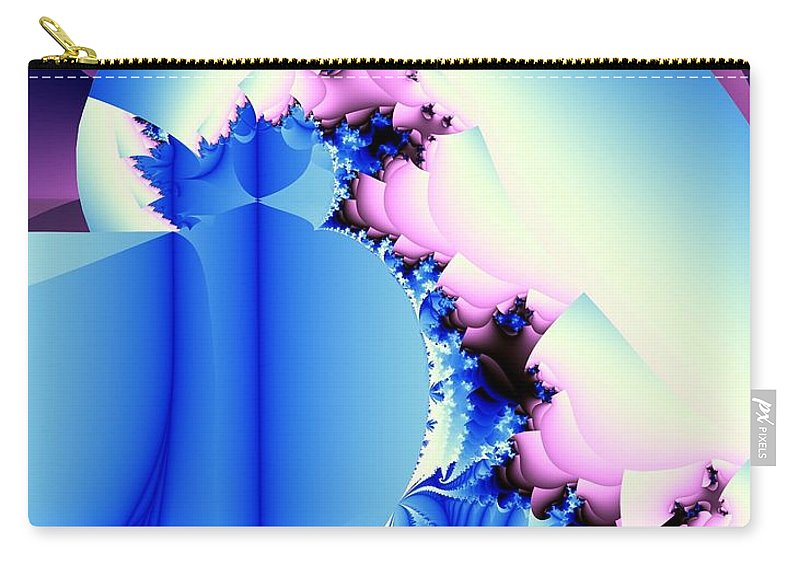 Fractal Art Carry-all Pouch featuring the digital art Fractal Cornucopia by Ron Bissett