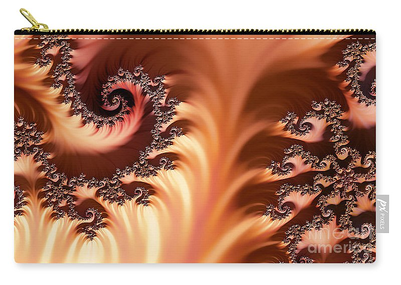 Clay Carry-all Pouch featuring the digital art Fractal Desert by Clayton Bruster