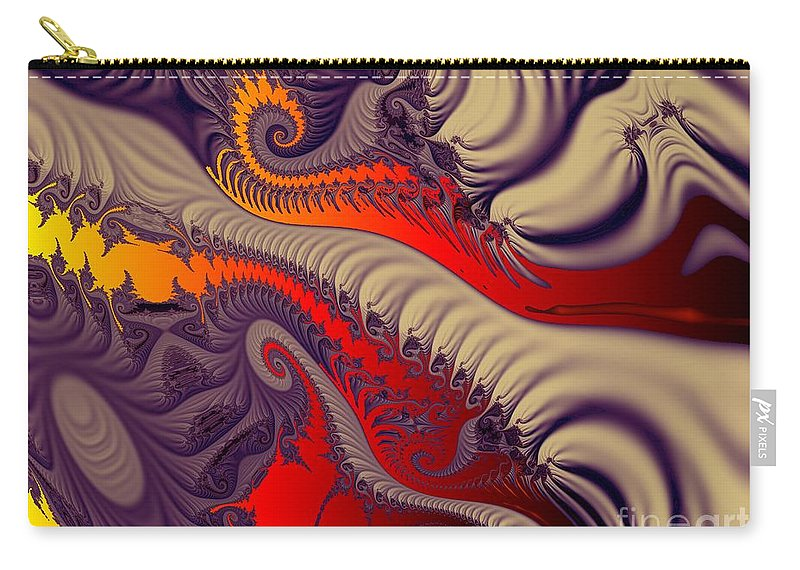 Fractal Art Carry-all Pouch featuring the digital art Fractal Fill by Ron Bissett