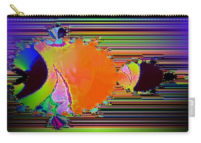 Fractal Carry-all Pouch featuring the photograph Fractal Fishy by Tim Allen