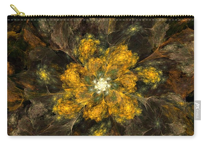 Digital Painting Carry-all Pouch featuring the digital art Fractal Floral 02-12-10 by David Lane