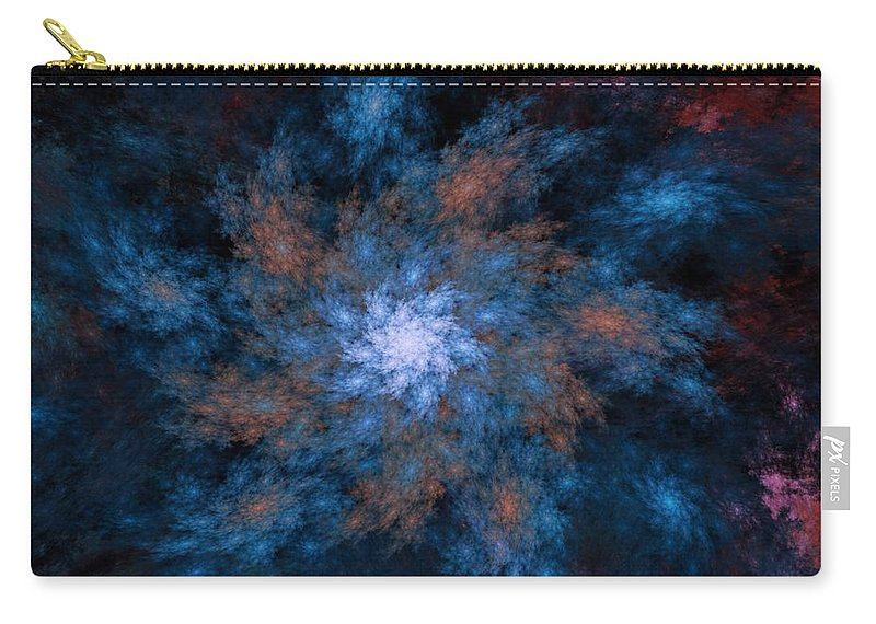 Fractal Carry-all Pouch featuring the digital art Fractal Floral Fantasy 072010 by David Lane