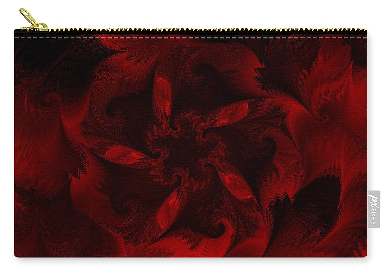 Abstract Digital Painting Carry-all Pouch featuring the digital art Fractal Garden 18 by David Lane