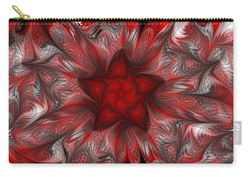 Abstract Digital Painting Carry-all Pouch featuring the digital art Fractal Garden 3 by David Lane