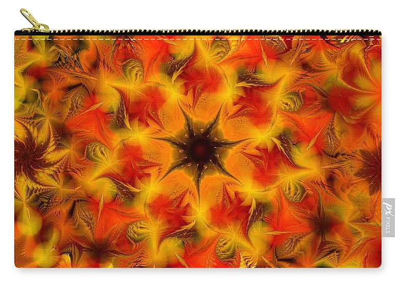Abstract Digital Painting Carry-all Pouch featuring the digital art Fractal Garden 6 by David Lane