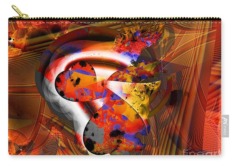 Heart Carry-all Pouch featuring the digital art Fractal Heart by Ron Bissett