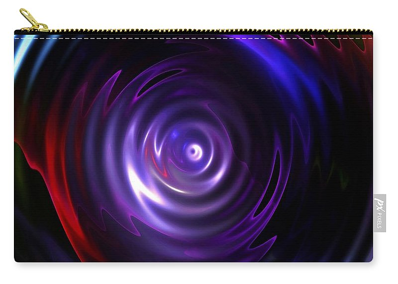 Lake Carry-all Pouch featuring the digital art Fractal Lake by Steve K