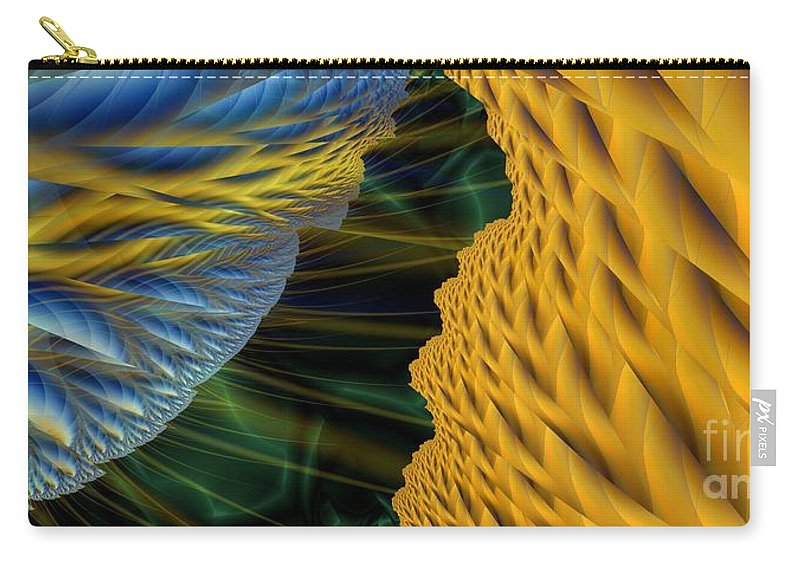 Lightning Carry-all Pouch featuring the digital art Fractal Storm by Ron Bissett