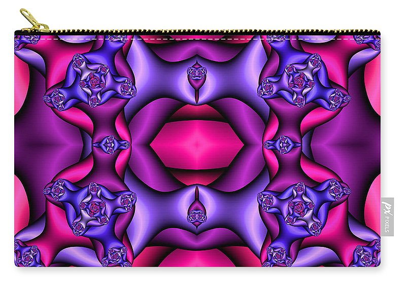 Carry-all Pouch featuring the digital art Fractals By Design by Clayton Bruster