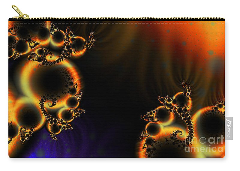 Clay Carry-all Pouch featuring the digital art Fractalscape I by Clayton Bruster