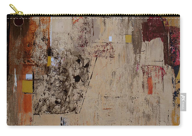 Abstract Carry-all Pouch featuring the painting Fractions by Ruth Palmer