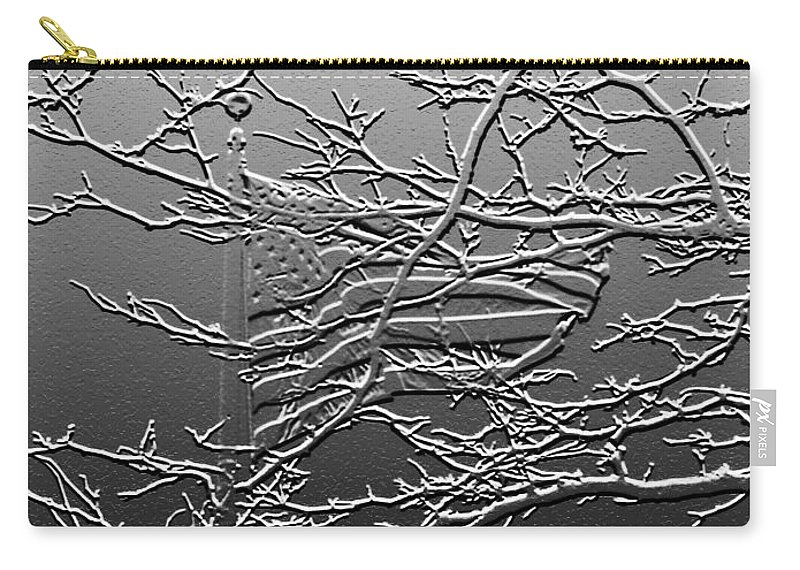 Lauren Radke Carry-all Pouch featuring the photograph Fractured America by Lauren Radke