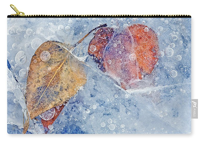Ice Carry-all Pouch featuring the photograph Fractured Seasons by Mike Dawson