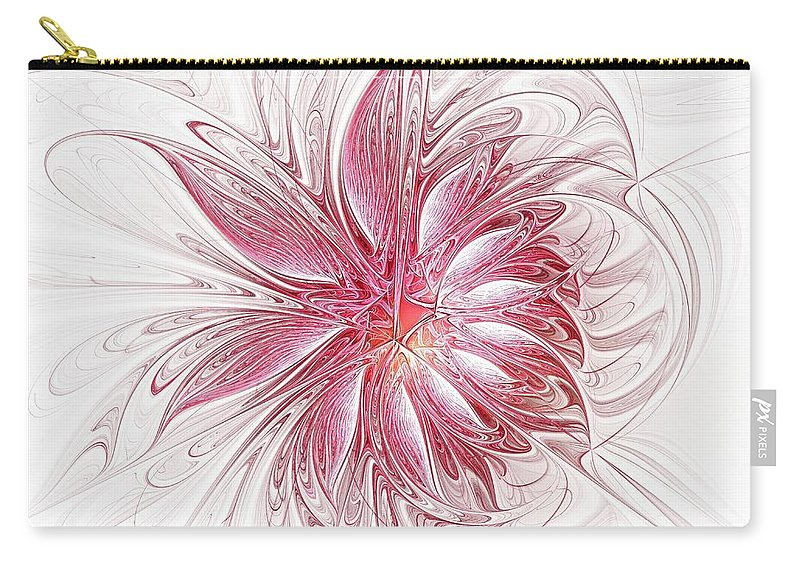 Digital Art Carry-all Pouch featuring the digital art Fragile by Amanda Moore