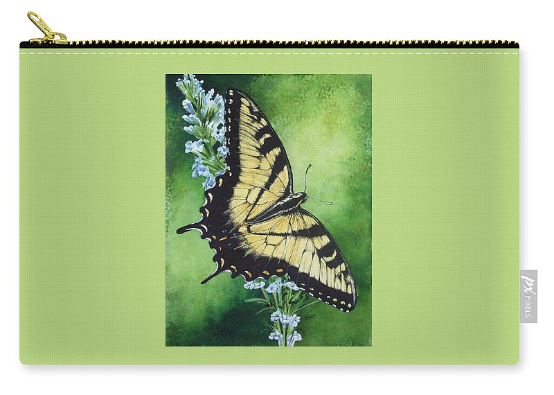 Bugs Carry-all Pouch featuring the mixed media Fragile Beauty by Barbara Keith