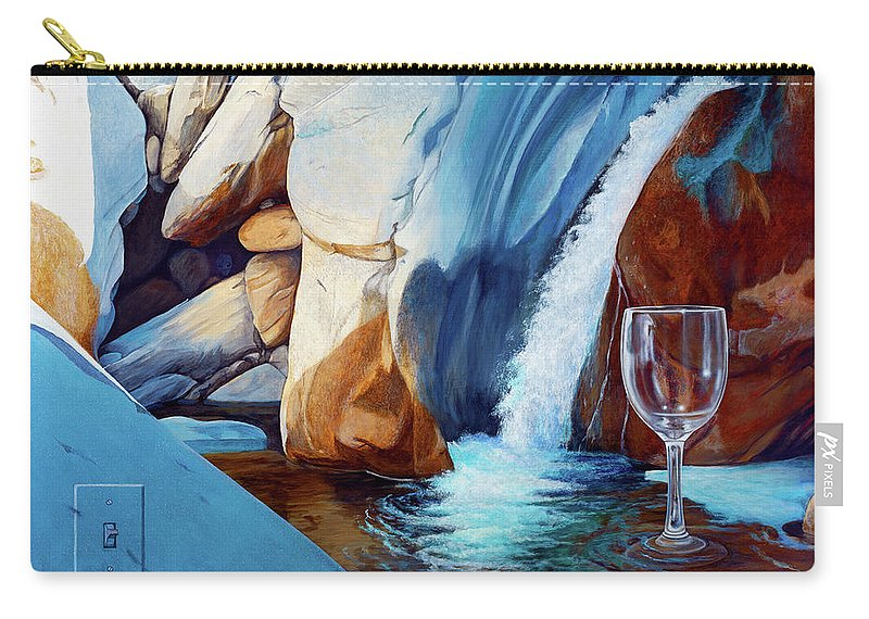 Landscape Carry-all Pouch featuring the painting Fragile Moments by Snake Jagger