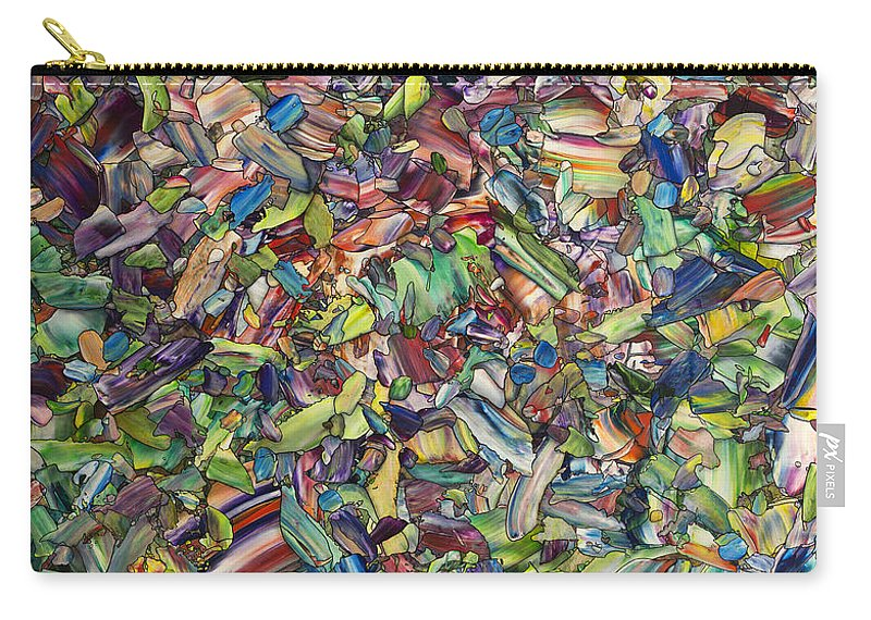 Spring Carry-all Pouch featuring the painting Fragmented Spring by James W Johnson