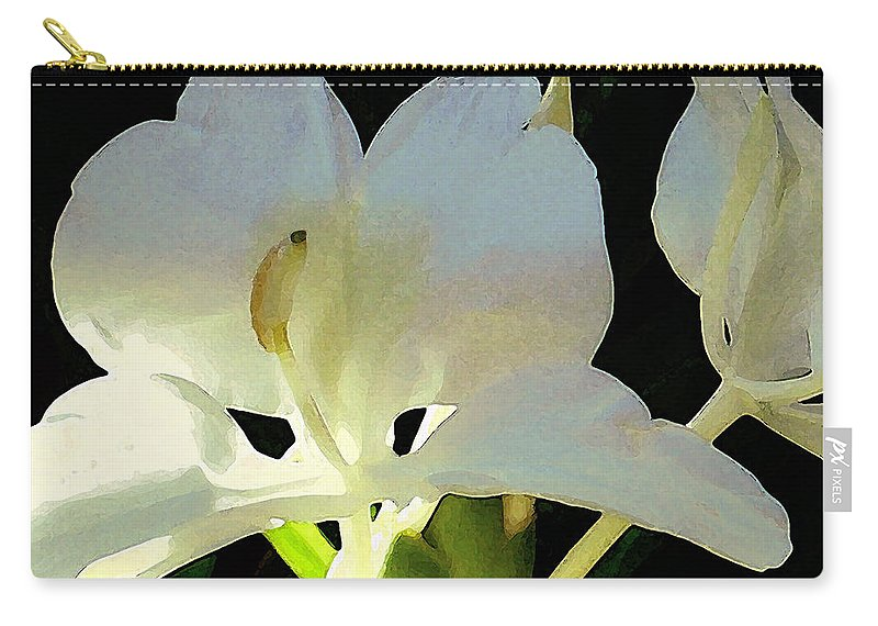Ginger Carry-all Pouch featuring the photograph Fragrant White Ginger by James Temple