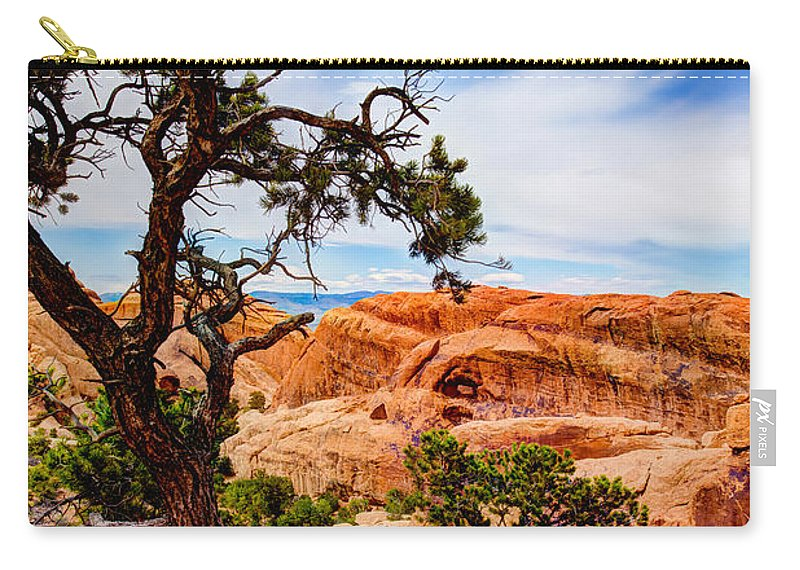 Outdoor Carry-all Pouch featuring the photograph Framed Arch by Chad Dutson