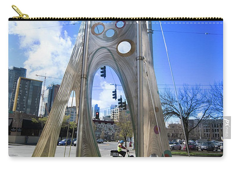 Carry-all Pouch featuring the photograph Framed by Jade Woods