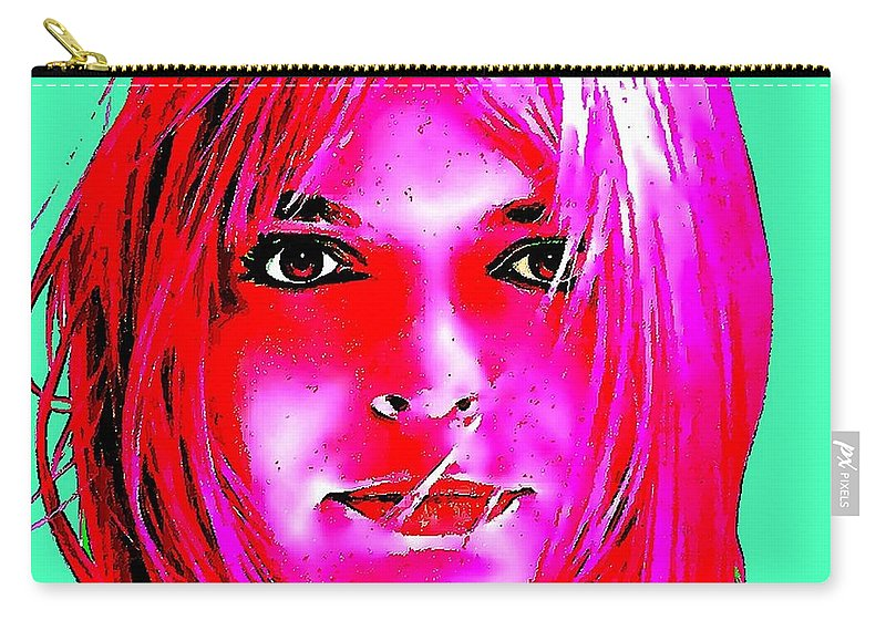 France Gall Art Carry-all Pouch featuring the digital art France Gall by David Conin