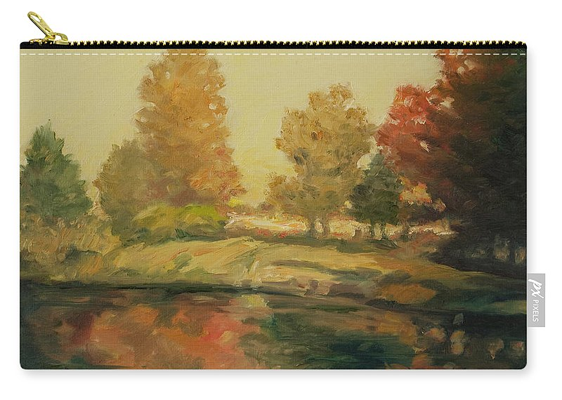 Trees Carry-all Pouch featuring the painting France I by Rick Nederlof