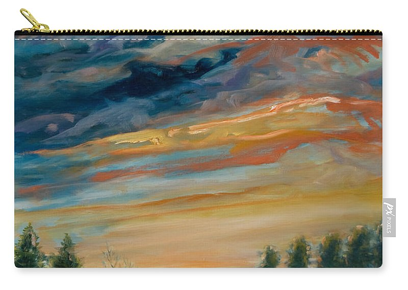 Water Carry-all Pouch featuring the painting France IIi by Rick Nederlof
