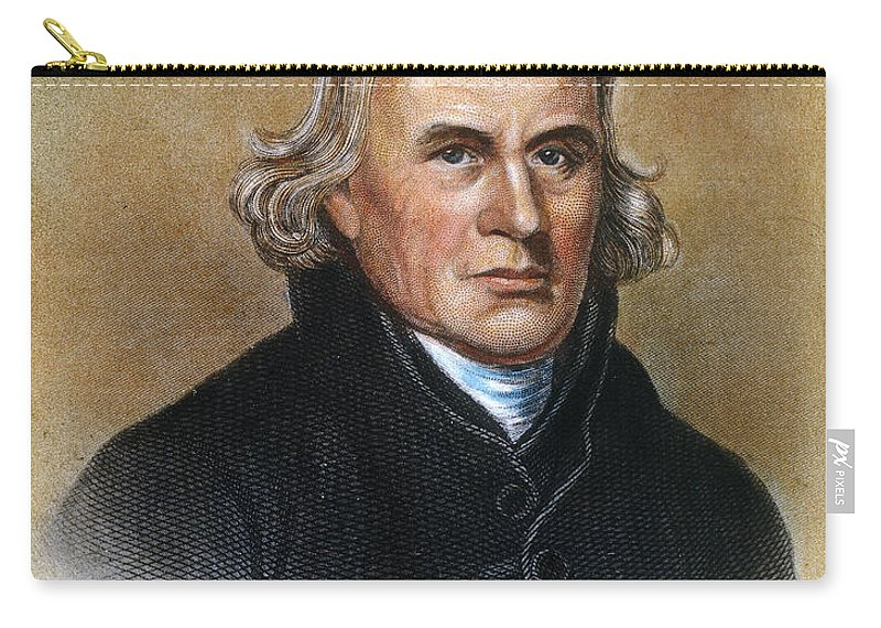 18th Century Carry-all Pouch featuring the photograph Francis Asbury (1745-1816) by Granger