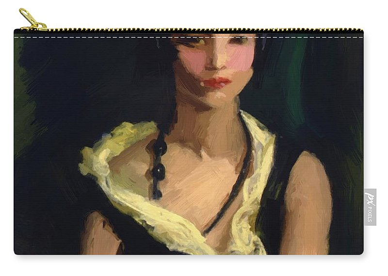 Francisquita Carry-all Pouch featuring the painting Francisquita 1923 by Henri Robert