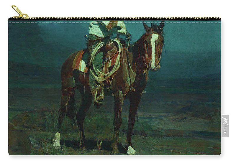 America Carry-all Pouch featuring the painting Frank Ellis Of The Sms by Frank Tenney Johnson