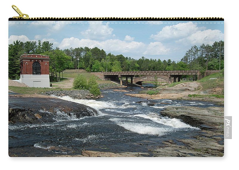 Waterfall Carry-all Pouch featuring the photograph Frank J Russel Falls 1 by Michael Peychich