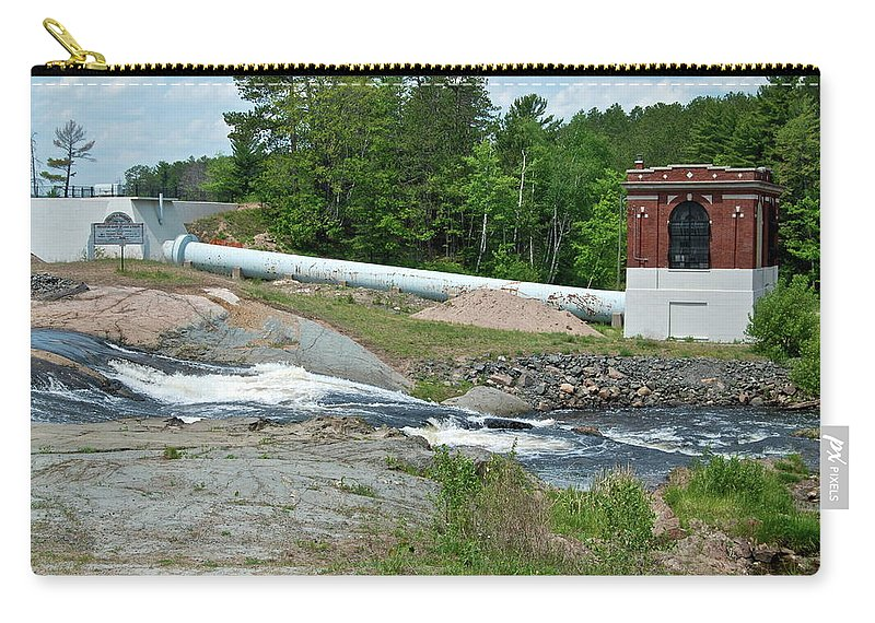 Waterfall Carry-all Pouch featuring the photograph Frank J Russell Falls by Michael Peychich