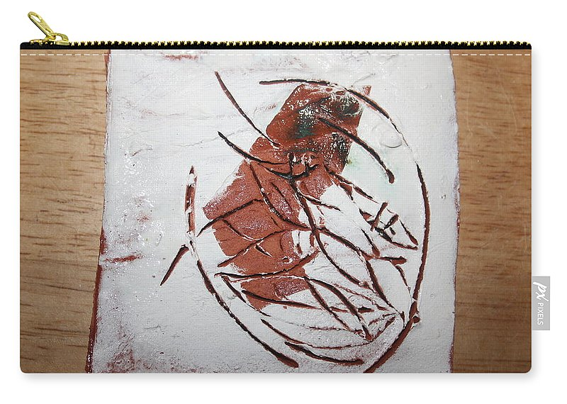Jesus Carry-all Pouch featuring the ceramic art Frankie - Tile by Gloria Ssali