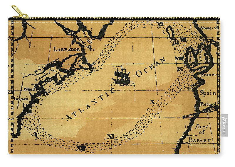 18th Century Carry-all Pouch featuring the drawing Franklin Chart, 1786 by Granger