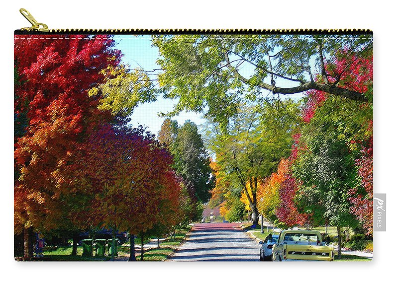 Landscape Carry-all Pouch featuring the photograph Franklin Street Liberty by Steve Karol