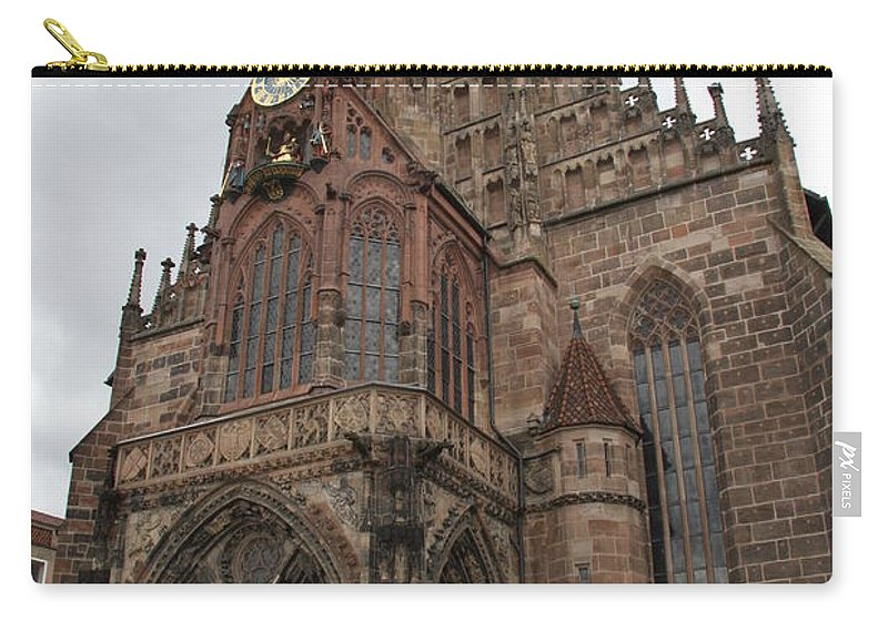 Church Carry-all Pouch featuring the photograph Frauenkirche - Nuremberg by Christiane Schulze Art And Photography