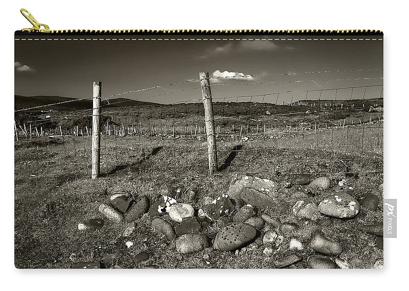 Fence Post Carry-all Pouch featuring the photograph Fred Fencestone by Joseph Yvon Cote