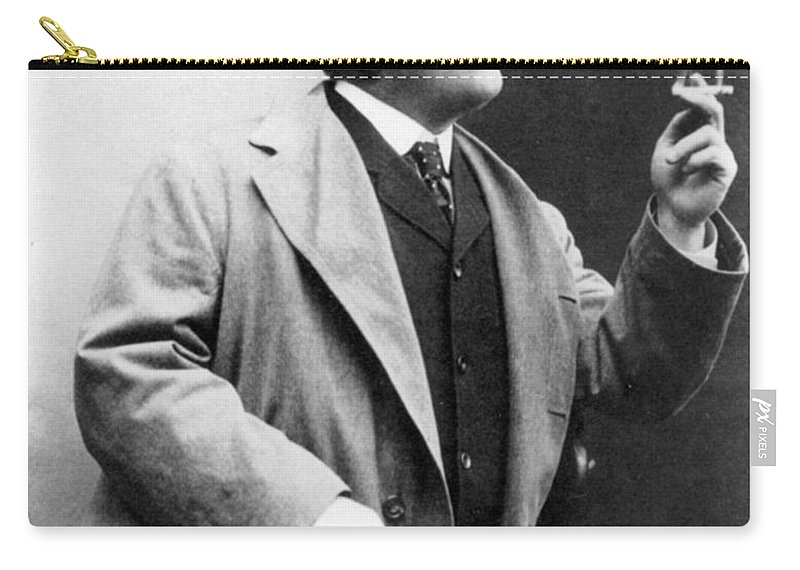 1909 Carry-all Pouch featuring the photograph Frederic Remington by Granger